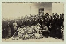POST MORTEM OLD PHOTO FUNERAL DEATH MAN OPEN CACKET KINGDOM BULGARIA 1930s