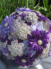 Purple and and lilac brooch bouquet, wedding, bridal, flowers