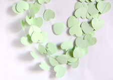 10ft Mint Green Love Heart Paper Garland wedding baby shower Party Decorations