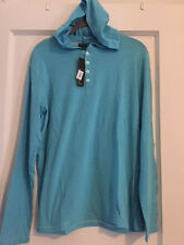 SONS OF INTRIGUE Men's Hooded 4-Button Long Sleeve Shirt (MEDIUM) NWT