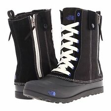 The North Face ADAPTA Outdoor Dual Climate Laces Zip Boots BLACK Blue 6.5 M New