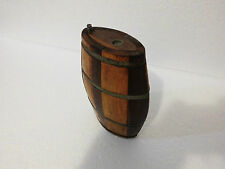 VINTAGE TURKISH OTTOMAN ANTIQUE HANDMADE WOODEN VESSEL CANTEEN FLASK STOPPER