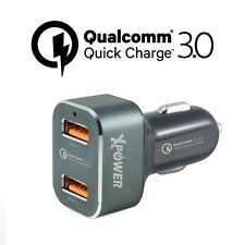Xpower 2nd Gen CC2Q3 Dual Qualcomm 3.0 Quick Charge 2 Ports 36W Car Charger Grey