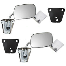 Chevrolet Pickup Truck SUV Van Set of Side View Manual Chrome Low Mount Mirrors