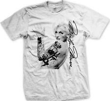 Marilyn Monroe Tattoo Signature Sexy Pinup Black Line Art Movies -Mens T-shirt