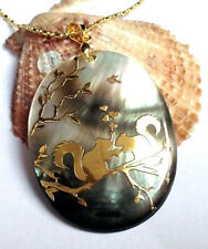 NEW 35x45mm beautiful abalone shell pendant and Squirrel AAA +