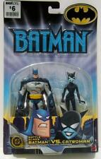 DC Mattel Battle Scars Batman vs Catwoman Action Figures Mint On Card #B4888