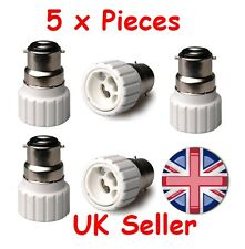 5 x B22 To GU10 Bulb Base Lamp Socket Fitting Extender Converter Adaptor Holder