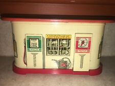 Rare Vintage Tin Litho Battery Operated Distler / Gas Station / Made In Germany