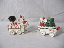 Vintage Lego Mouse Train NOEL  Christmas Candle Holder