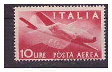 POSTA AEREA DEMOCRATICA  1946  - LIRE 10  NUOVO **