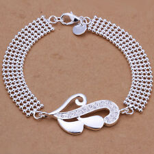 925 Sterling Solid Silver jewelry sweet girl round beads bracelet FA235
