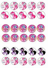 MY LITTLE PONY EDIBLE RICE WAFER PAPER CUP CAKE TOPPER X30