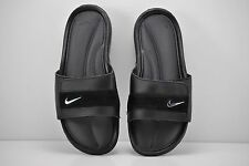 Mens Nike Comfort Slides Sandals Size 10 Black Silver Anthracite 360884 001