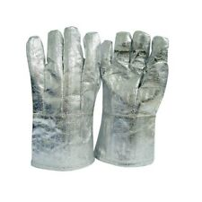 Bnwt High Temp Heat(800°C) Resistant Aluminised Safety Fire Work Gloves L-XLarge
