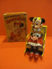 ALL ORIGINAL LINEMAR MECHANICAL KNITTING MINNIE MOUSE  + ORIGINAL BOX DISNEY