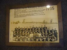 1935 PITTSBURGH PIRATES STEELERS 17X23 VINTAGE TEAM PHOTO ART ROONEY FRAMED RARE