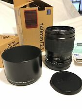Contax 645 Carl Zeiss 140mm f2.8 con cappuccio in metallo gb-73 - Regno Unito