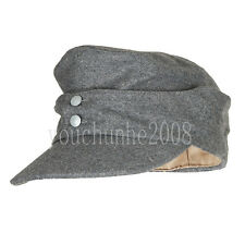 WWII GERMAN ARMY EM PANZER M43 M1943 FIELD WOOL CAP GREY M-33693
