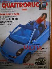 Quattroruote 602 2005 Nissan Micra Cabrio - Peugeot 207 - Renault Clio    [Q44]