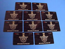 LOT OF 10 TIM HORTONS GIFT CARDS STANLEY CUP PLAYOFFS NO $ VALUE FREE SHIPPING