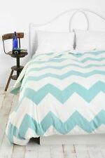 URBAN OUTFITTERS ASSEMBLY HOME LIGHT BLUE ZIGZAG DUVET COVER TWIN XL