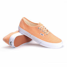 VANS Authentic Slim (Chambray) Coral/True White WOMEN'S Classic Shoes SIZE 8