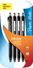 Paper Mate Inkjoy 300 RT Retráctil Ball Pen Medio Punta 1.0 Mm-Negro Paquete De 4