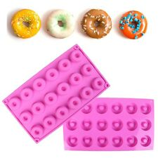 Silicone Donut Doughnut Cake Mould Chocolate Soap Candy Jelly Mold Baking Pan Y3