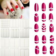 18 Style French Manicure Nail Art Tips Form Guide Sticker Polish DIY Stencil Set