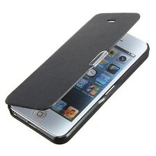 FUNDA PUNTERO IPHONE 5C CUERO CARTERA NEGRO LIBRO BOOK NEGRA FLIP COVER