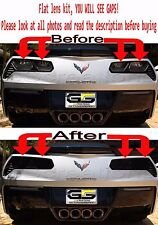 C7 Corvette Rear FLAT DESIGN Tail Light Blackout lens Kit ( Smoked Covers )