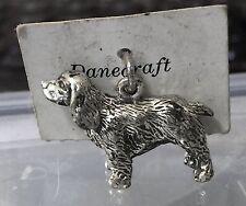 Vintage Sterling Danecraft Charm on Card - Solid Cocker Spaniel
