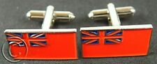 MERCHANT NAVY MN ROYAL NAVY HAND MADE RED ENSIGN SILVER PLATED CUFFLINKS