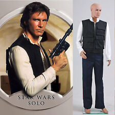 Star Wars ANH A New Hope Han Solo Costume Vest Shirt Pants *Tailored*