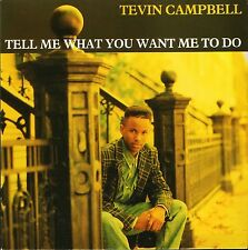 """TEVIN CAMPBELL tell me what you want me to do NEAR MINT DISC WO102 7"""" PS EX/EX"""