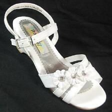 NEW Girl's Youths RACHEL SHOES GRACE WHITE Buckle Sandals Dress Shoes  SZ 3