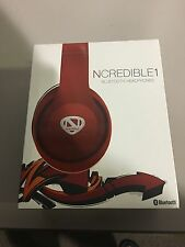 New Ncredible1 Wireless Bluetooth Headphones by Radio Shack Red