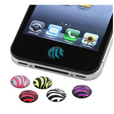 Hot Sale!Hot Sale!6x Zebra Patterns Home Button Sticker for Apple iPhone 4S