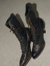 Antique Victorian Leather High Top Lace Shoes Boots Dorothy Dodd Handcraft