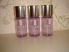 Three Empty Refillable Clinique Bottles Travel Size Safety Lock on Each Durable