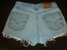 VINTAGE LEVI'S CUT OFF JEANS SHORTS HOT PANTS FESTIVAL SUMMER HOLIDAYS IBIZA *