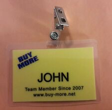 Chuck TV Series ID Badge - Buy More Team Member John prop costume cosplay