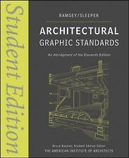 Ramsey/Sleeper Architectural Graphic Standards Ser.: Architectural Graphic...