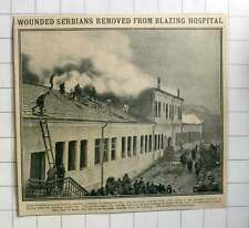 1915 Wounded Serbian Soldiers Removed From Blazing Hospital Skoplje
