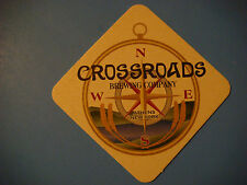 Beer Bar Coaster ~ CROSSROADS Brewing Co ~ Athens, NEW YORK Since 2010 ~ COMPASS