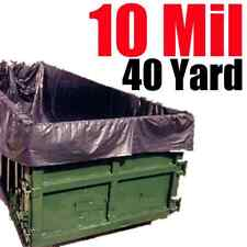 10 Mil 40 Yard Roll Off Dumpster Liner