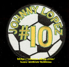 Patch JOHNNY LOPEZ #10  SOCCER Player Star  Futball Fut Ball Football Sports