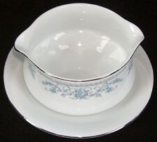 ROYAL GALLERY CHINA NANCY GRAVY BOAT W/ATTACHED PLATE