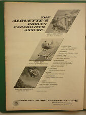 12/1960 PUB REPUBLIC AVIATION ALOUETTE HELICOPTER USAF ARMY MARINES ORIGINAL AD